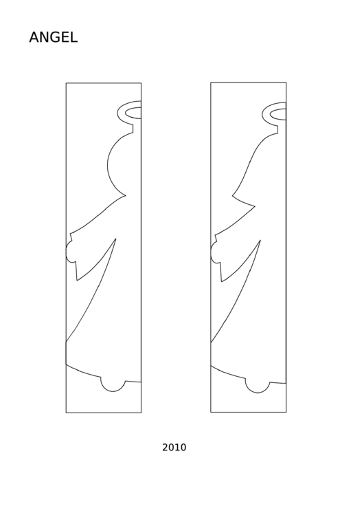 Angel Frame Template Printable pdf