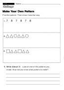 Make Your Own Pattern - Challenge Worksheet With Answer Key
