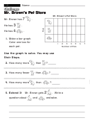 Mr. Brown's Pet Store - Challenge Worksheet With Answer Key