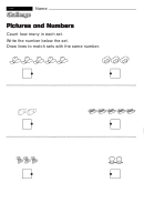 Pictures And Numbers - Challenge Worksheet With Answer Key