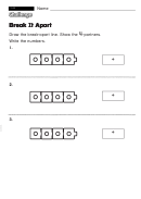 Break It Apart - Challenge Worksheet With Answer Key