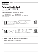 Patterns Can Be Fun! - Challenge Worksheet With Answer Key