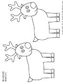 Blank Reindeer Template - Medium