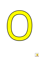 Yellow O To T Letter Poster Templates