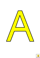 Yellow A To G Letter Poster Templates