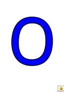 Blue O To T Letter Poster Templates