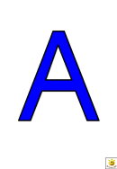 Blue A To G Letter Poster Templates