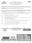 Form Mw508 - Annual Employer Withholding Reconciliation Return 2006 - Maryland