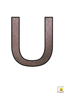 Materials U To Z Letter Poster Templates