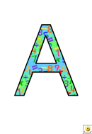 Maths Themed A To G Letter Poster Templates