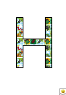 Cool Bugs H To N Letter Poster Templates