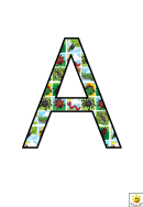 Cool Bugs A To G Letter Poster Templates