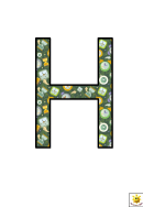 Time Themed H To N Letter Poster Templates