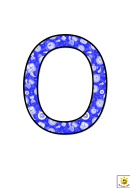 Blue Time Themed O To T Letter Poster Templates