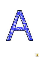 Blue Time Themed A To G Letter Poster Templates