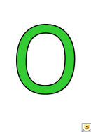 Green O To T Letter Poster Templates
