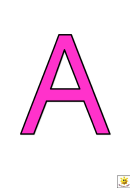Pink A To G Letter Poster Templates