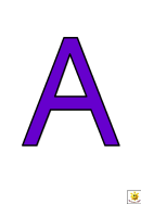 Purple A To G Letter Poster Templates