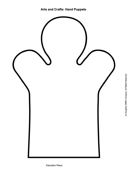 Arts And Crafts: Hand Puppets Template Printable pdf