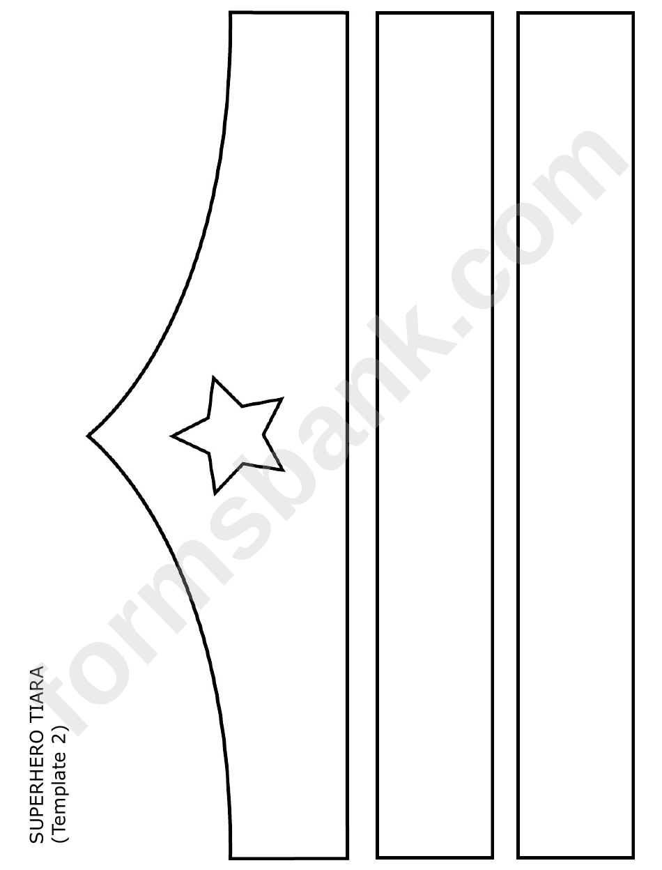 Tiara Template Printable Princess Tiara Template Enchanting Wonder