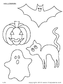 Blank Halloween Shape Templates