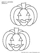 Jack-o-lantern (medium) Template