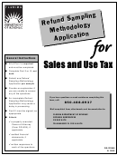 Form Dr-370060 - Refund Sampling Methodology Application - Sales And Use Tax