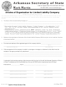 Form Ll-01 - Articles Of Organization For Limited Liability Company - 2015