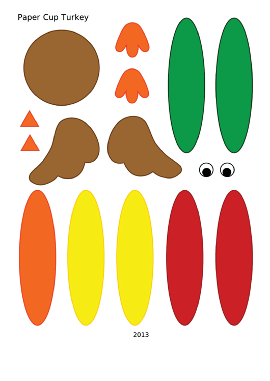 Paper Cup Turkey Template