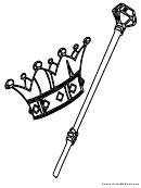 Crown Coloring Sheet