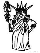 The Statue Of Liberty Coloring Sheet
