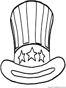 Hat Patriotic Coloring Sheet