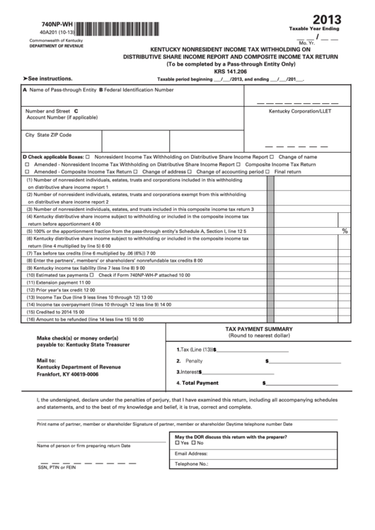 kentucky state income tax forms and instructions