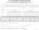 Form Rf-i - Individual Registration Form - City Of Sharonville