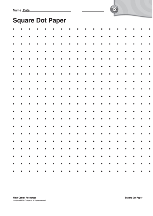 photograph about Free Printable Dot Paper called Sq. Dot Paper Template - Remedy Main printable pdf down load