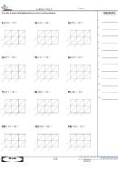Lattice 3 By 2 - Math Worksheet With Answer Key