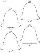 4 Christmas Bells Template
