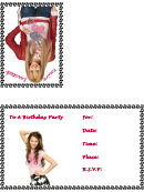 Birthday Invitation Card Template - Hanna Montana