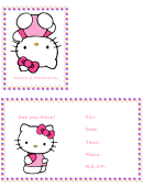 Birthday Invitation Card Template (hello Kitty)