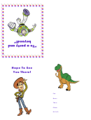 Birthday Invitation Card Template (toy Story)