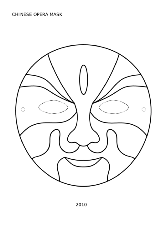 Chinese Opera Mask Template Printable pdf