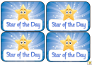 Award Certificate Template - Star Of The Week