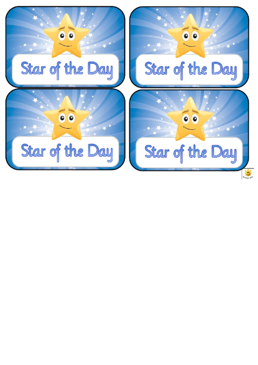 Award Certificate Template Star Of The Week Printable Pdf Download