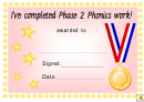 Award Certificate Template - I've Completed Phase 2-6 Phonics Work