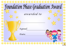 Award Certificate Template - Foundation Phase Graduation Award