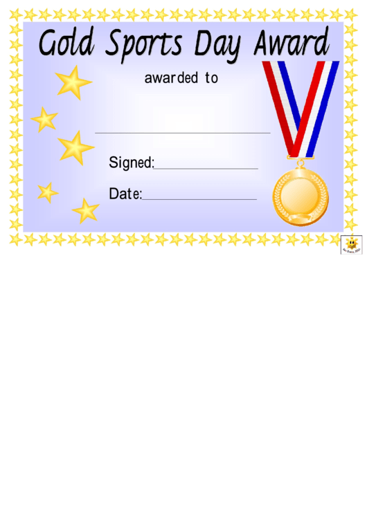 Award Certificate Template - Gold, Silver And Bronze ...