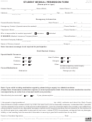 Form Ccf-455 - Student Medical Permission Form