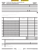 Form 541-t - California Allocation Of Estimated Tax Payments To Beneficiaries - 2006