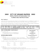 Employer's Withholding Tax Forms And Instructions - City Of Grand Rapids - 2002