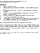 Form Sr-1 - Non-resident Employee Refund Application Non-resident Employee Refund Application